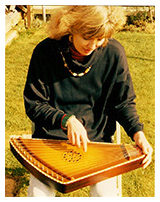 wife playing lyre